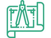Icono diseño, tecnología e innovación